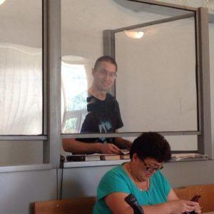 Евгений Танков в зале суда. Фото из социальной сети Facebook
