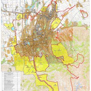 карта алматы с территориями