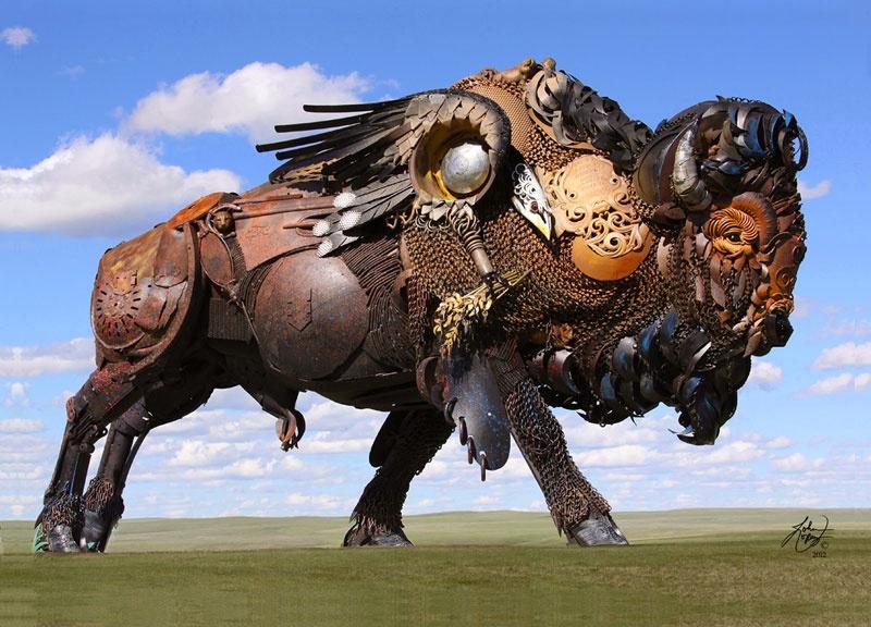 Скульптуры из металлолома
