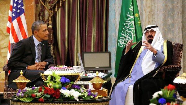 встреча президента США Барака Обамы и короля Саудовской Аравии Абдаллы