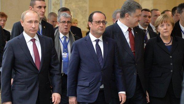 переговоров лидеров Германии, России, Украины и Франции