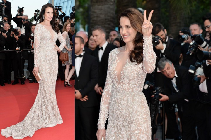 """Andie MacDowell attending the """" THE SEA OF TREES """" Premiere during the 68th annual International Cannes Film Festival in Cannes, France, 16th May 2015. Credit: Timm/face to face"""