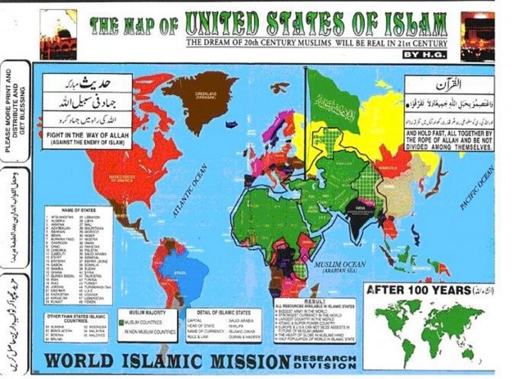 islamist map of the world