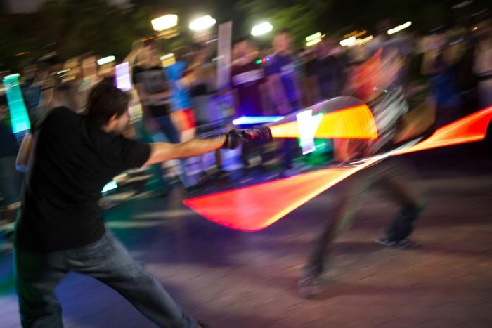 NYC Lightsaber Battle 05