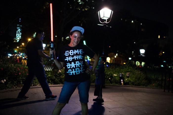 NYC Lightsaber Battle 13