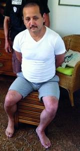 Мухтар Аблязов в момент задержания