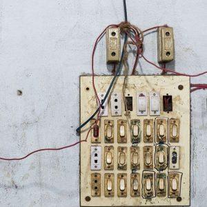 Электрический щит на фабрике