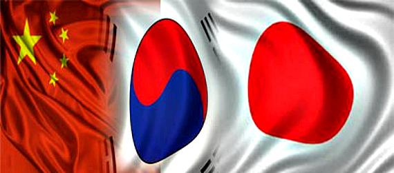 China-Japan-South-Korea-Flags
