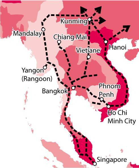 Новые китайские железнодорожные маршруты