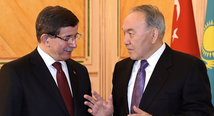 Нурсултан Назарбаев и Ахмет Давутоглу