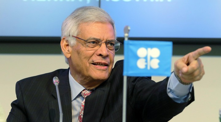 Secretary General of OPEC Abdalla Salem El-Badri of Libya speaks during a news conference after a meeting of the Organization of the Petroleum Exporting Countries, OPEC, at their headquarters in Vienna, Austria, Thursday Nov. 27, 2014. (AP Photo/Ronald Zak)