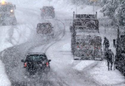 Из-за метели закрыта дорога Астана-Щучинск