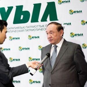 """Али Бектаев, лидер партии """"Ауыл"""""""