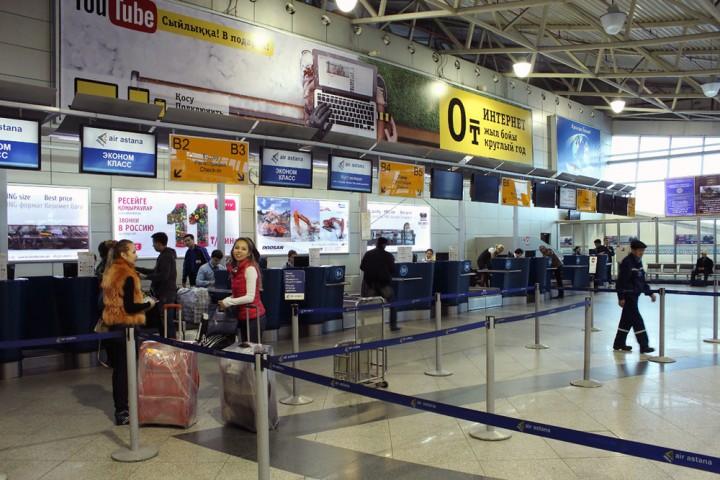 Зал ожидания аэропорта Алматы. Источник - yvision.kz