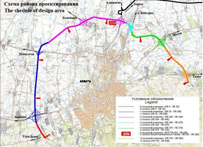 Транспортное кольцо вокруг Алматы