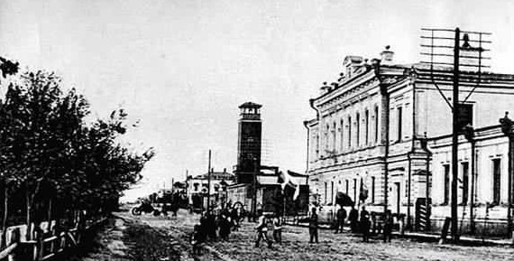 Деревянная каланча. Семипалатинск, конец 1920-х гг. Источник - wikimapia.org