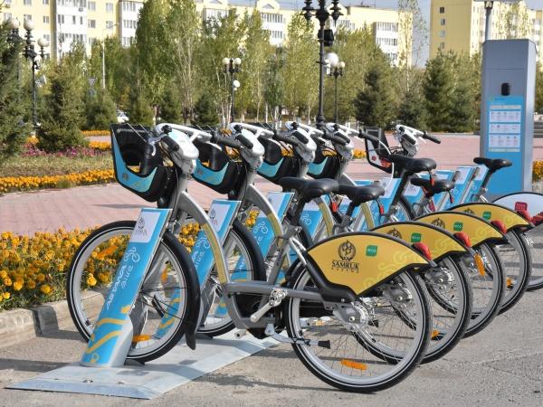 Пункт велопроката в Астане. Источник - astana.gov.kz