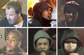 Участники бунтов в Лондоне, попавшие на камеры уличного наблюдения