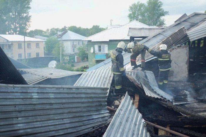 пожар зыряновск 1