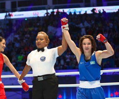 Дина Жоламан. Источник: Казахстанская федерация бокса