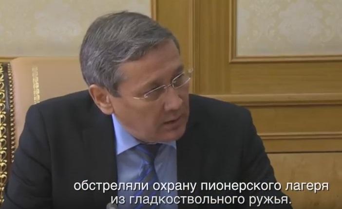Владимир Жумаканов на докладе у президента