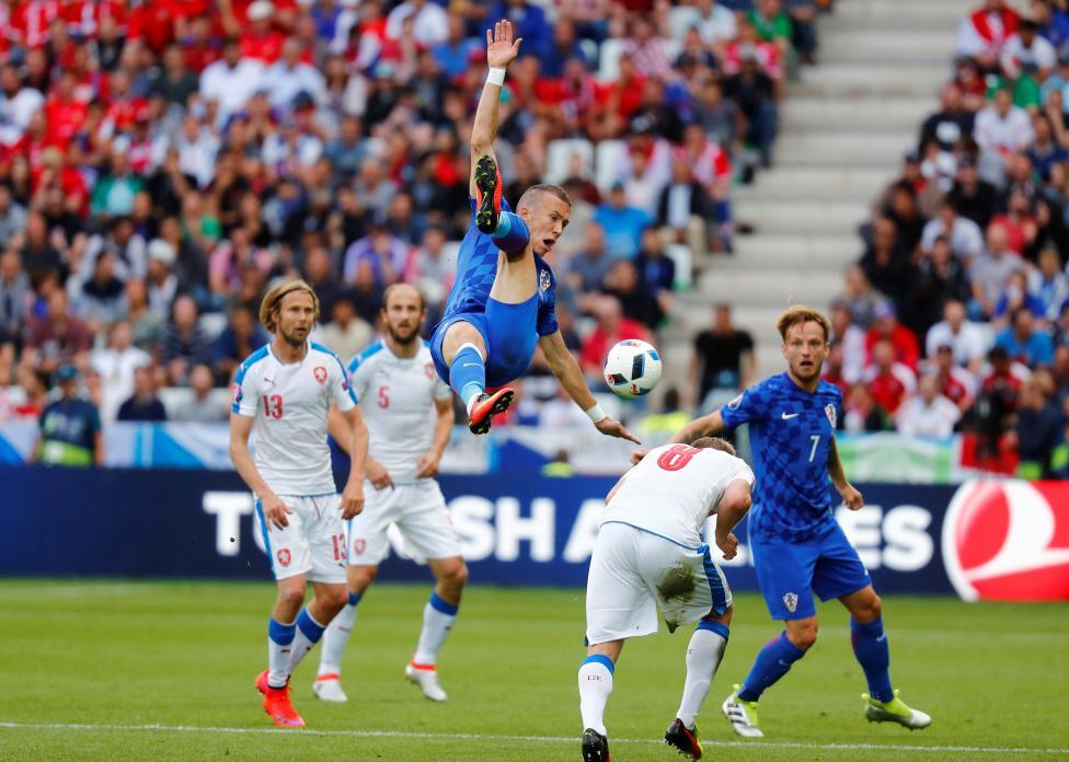 Croatia's Ivan Perisic in action against Czech Republic. REUTERS/Kai Pfaffenbach Livepic