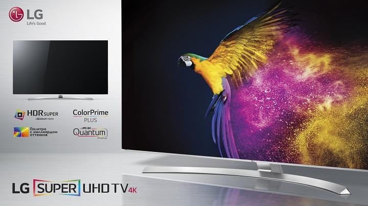 Новый LG Super UHD TV серии UH850V