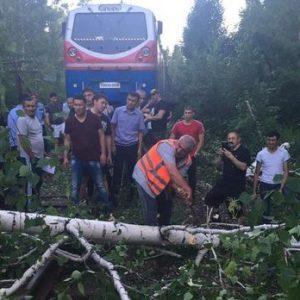 Машинисты предотвратили крушение поезда. Фото пресс-службы КТЖ