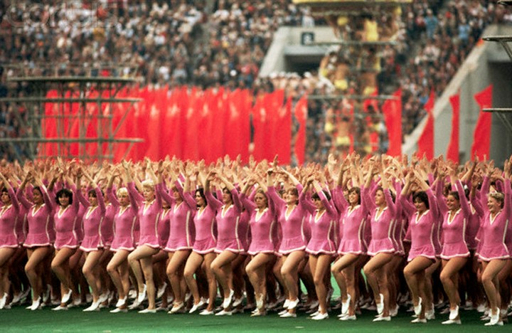 July 1980, Moscow, USSR --- Opening Ceremony for the 1980 Olympic Games --- Image by © Jerry Cooke/CORBIS