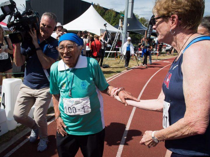 Столетняя женщина изИндии приняла участие вмассовом забеге вКанаде