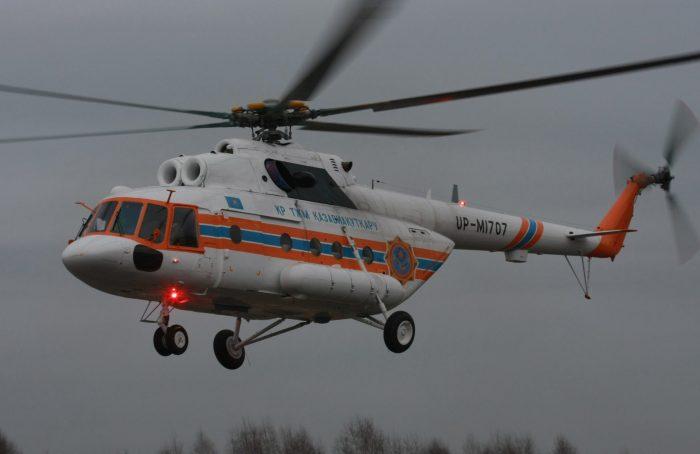 """Вертолет """"Казавиаспаса"""". Источник - kazaviaspas.kz"""