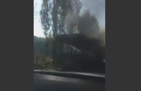 Автобус спассажирами зажегся подороге наМедеу вАлматы