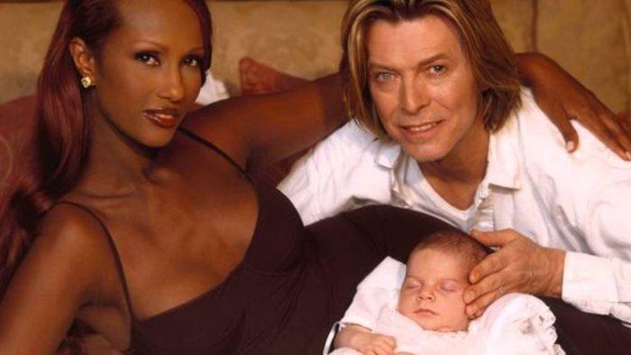 Дэвид Боуи с женой Иман и дочкой