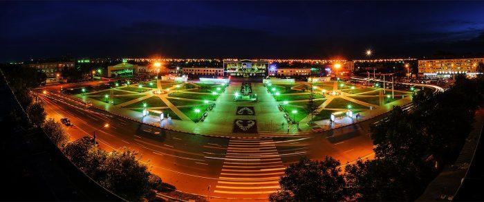 Ночной Петропавловск. Источник - mypiter.kz