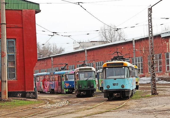 Трамвайное депо Алматы