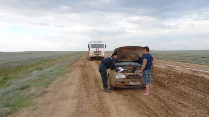 Разбитая дорога Кызылорда-Жезказган