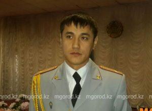 полицейский Аслан Есентаев из Актобе