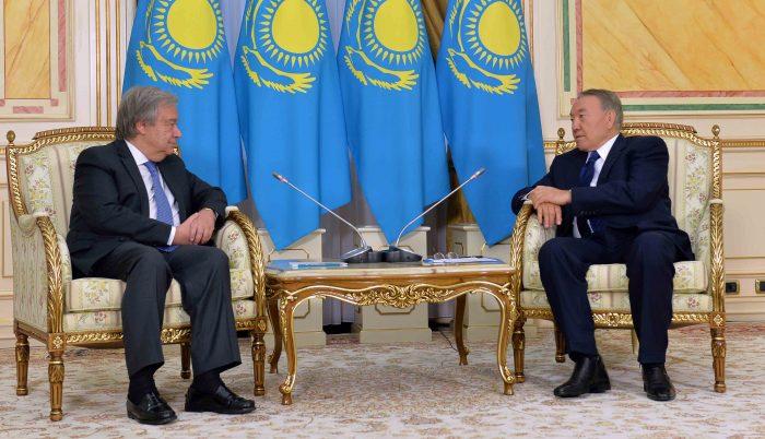 назарбаев и а. гутерриш