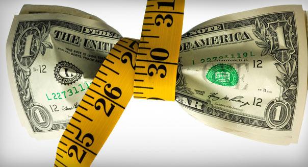 доллар худеет, вес денег