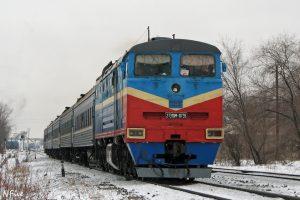 поезд и снег