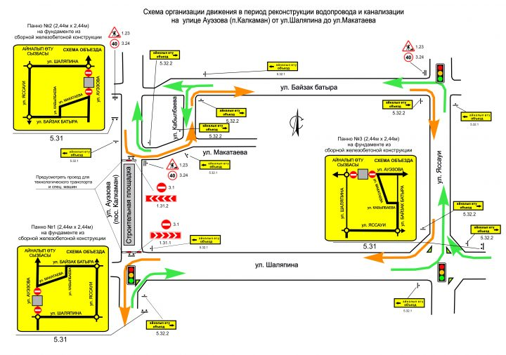 схема движения наурызбайский район алматы