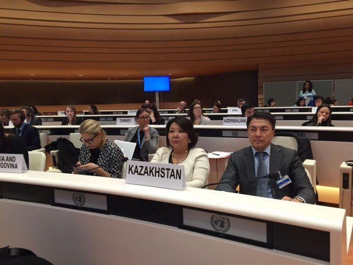 казахстанская делегация на конференции против пыток в женеве