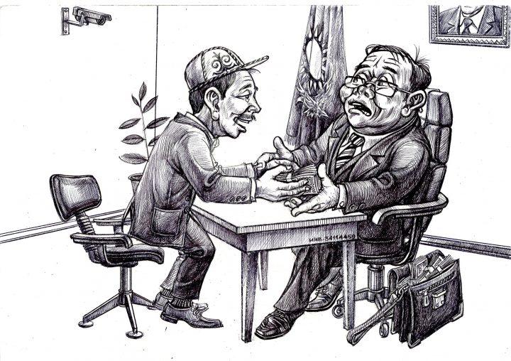 карикатура про взяточников