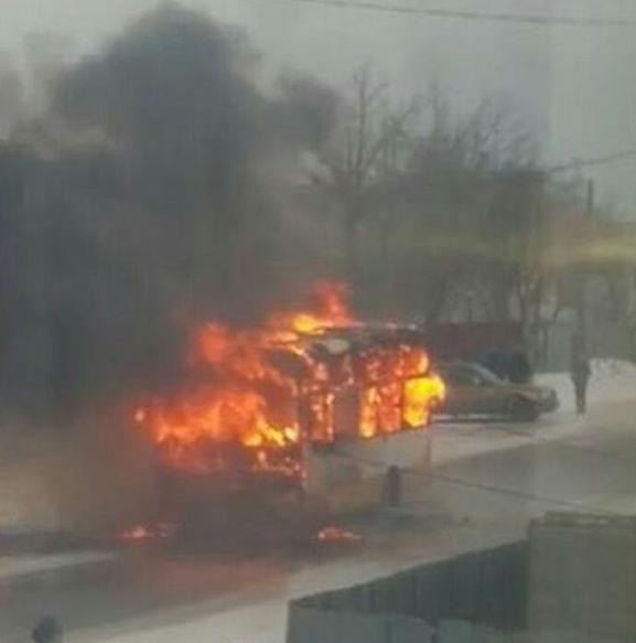 Два автобуса сгорели в Карагандинской области