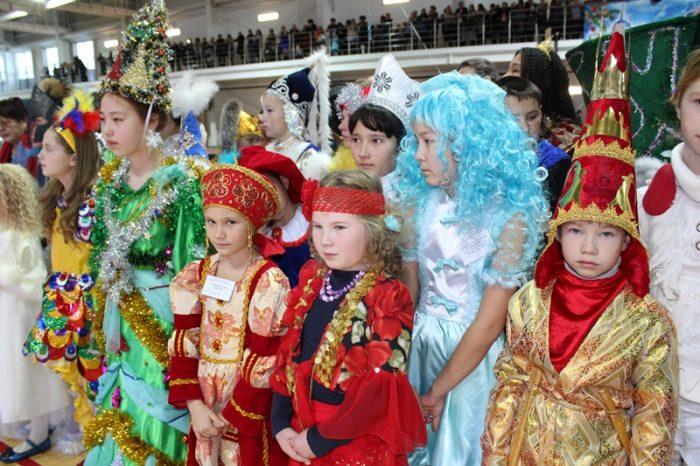 посетители президентской елки в петропавловске