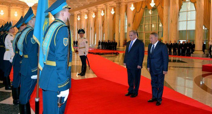 назарбаев и премьер израиля