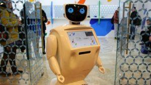 робот продает билеты на экспо
