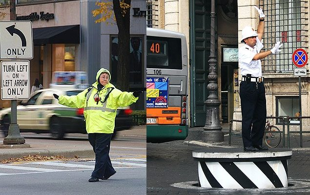 Дорожные полицейские США и Европы