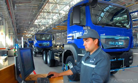 Завод немецкого автоконцерна MAN в Узбекистане