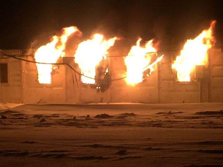 пожар в ЗКО в ночь с 6 на 7 января 2017